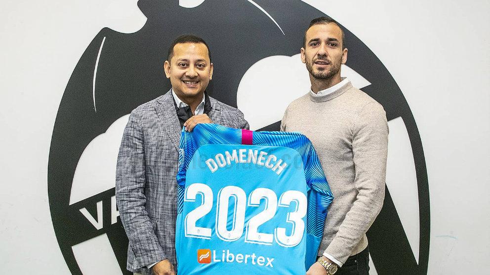 Anil Murthy y Jaume Doménech (Valencia Club de Fútbol)