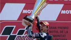 Jorge Lorenzo, con el título de campeón del mundo de 2015. (AFP)