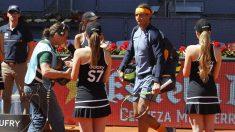 Rafa Nadal, en el Masters de la Caja Mágica, donde se jugará la Copa Davis. (AFP)