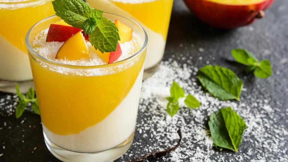 Receta de Panacota de mango y menta