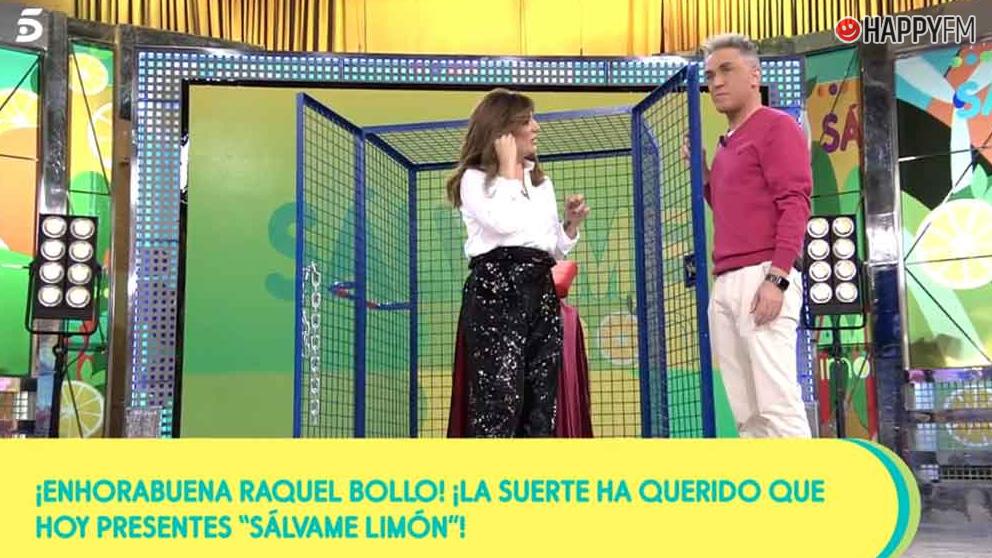 Raquel Bollo, como presentadora de Sálvame
