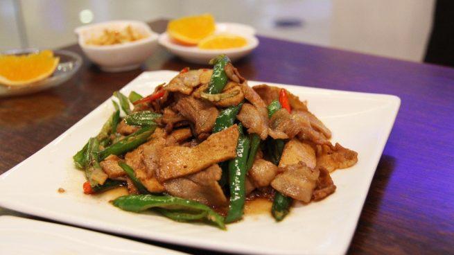 Carne al estilo Sichuan