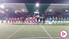 El himno franquista sonó antes del partido de El Álamo.