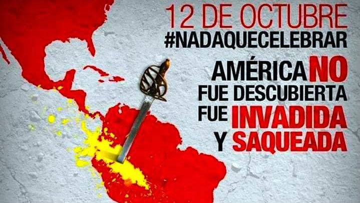 Mensaje publicado por la ONG Ensenyants Solidaris con motivo del 12 de Octubre, Día de la Hispanidad.