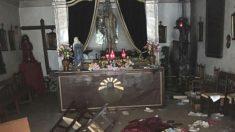 Imagen del Cristo Nazareno calcinado. (Foto: 'Heraldo de Aragón')