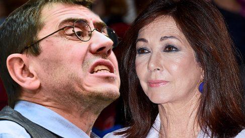 Ana Rosa Quintana y Juan Carlos Monedero se enzarzan por el sueldo que cobra Carlos Herrera.
