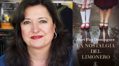 La periodista y escritora catalana Mari Pau Domínguez junto a su última novela 'La nostalgia del limonero'.