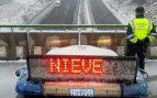 Carretera cortada por la nieve. Foto: EP