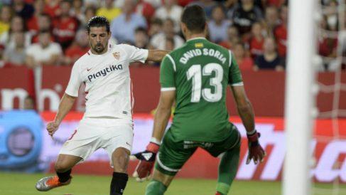 Nolito en un partido ante el Getafe (AFP)