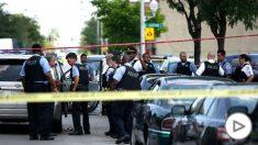 Policías estadounidenses en la calle (Foto: AFP).