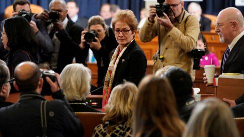 La ex embajadora Yovanovitch contra la que ha arremetido Donald Trump (Foto: AFP)