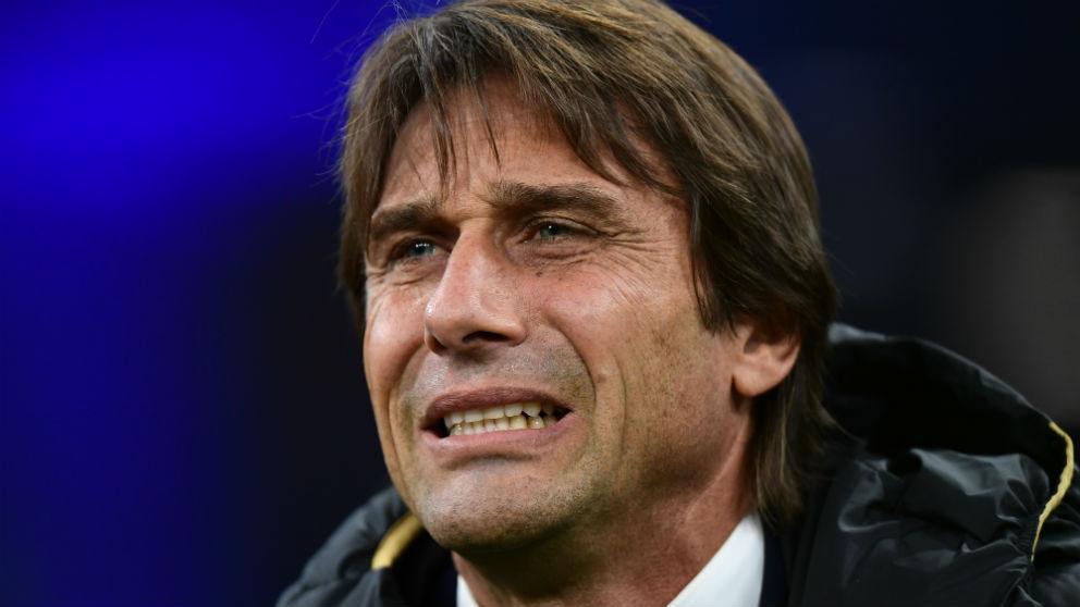 Antonio Conte durante un partido con el Inter. (AFP)