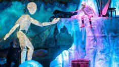 Dundu, un ser hecho de luz, conoce a 'Amador, el explorador': uno de los emotivos momentos del Circo de Hielo 2, en IFEMA.