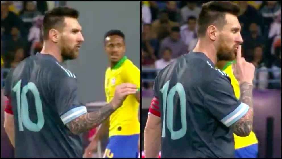 Messi mandó callar a Tite durante el Argentina-Brasil.
