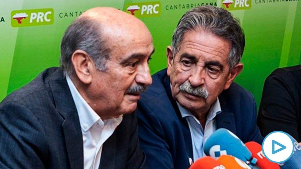 El diputado José María Mazón junto a Miguel Ángel Revilla. (Foto. PRC)