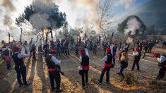 La Festa del Pi se realiza en honor a Santa Coloma, patrona de Centelles