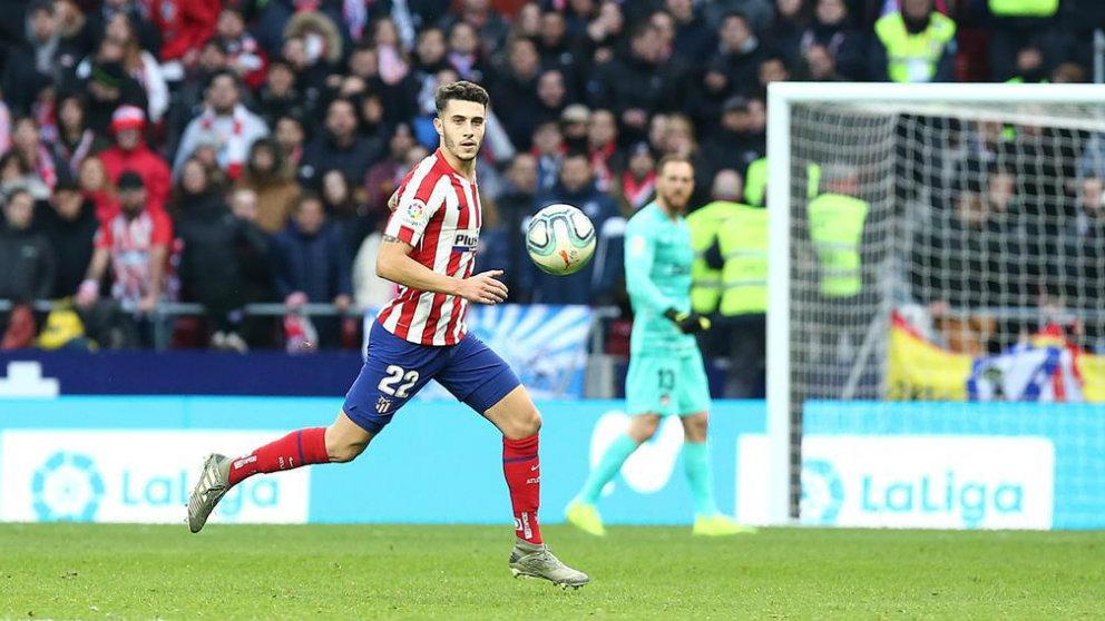 Mario Hermoso en un partido con el Atlético de Madrid (@Mariohermoso5)