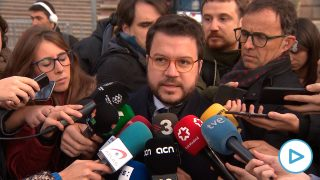 El vicepresidente de la Generalitat, Pere Aragonès, en el Tribunal Superior de Justicia de Catalunya (TSJC)