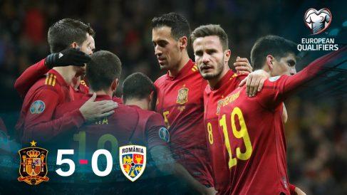 España se impuso 5-0 a Rumanía.