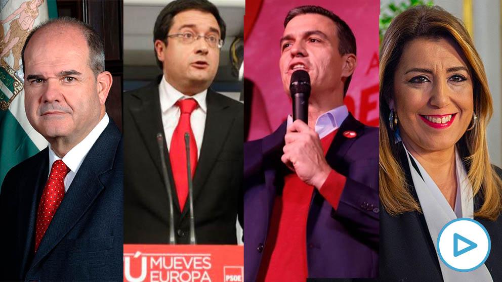 Dirigentes del PSOE defendiendo la «inocencia» y «honradez» de Chaves y de Griñán. (Vídeo: Cynthia Díaz Nobile)