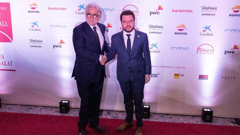 Pere Aragonès en la gala de Fomento del Trabajo. Foto: Europa Press
