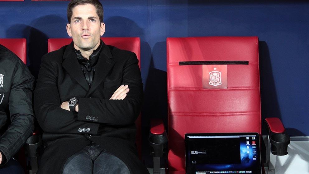 Robert Moreno, durante un partido. (Foto: Alberto Simón)