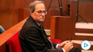 Quim Torra durante el juicio en el TSJC. Foto: EP