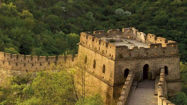 muralla china se ve desde el espacio