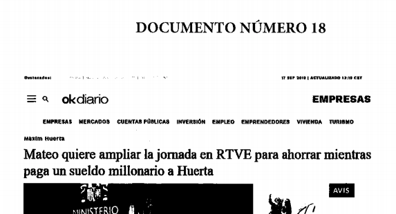 Rosa María Mateo utiliza artículos de OKDIARIO para atacar a los trabajadores de RTVE