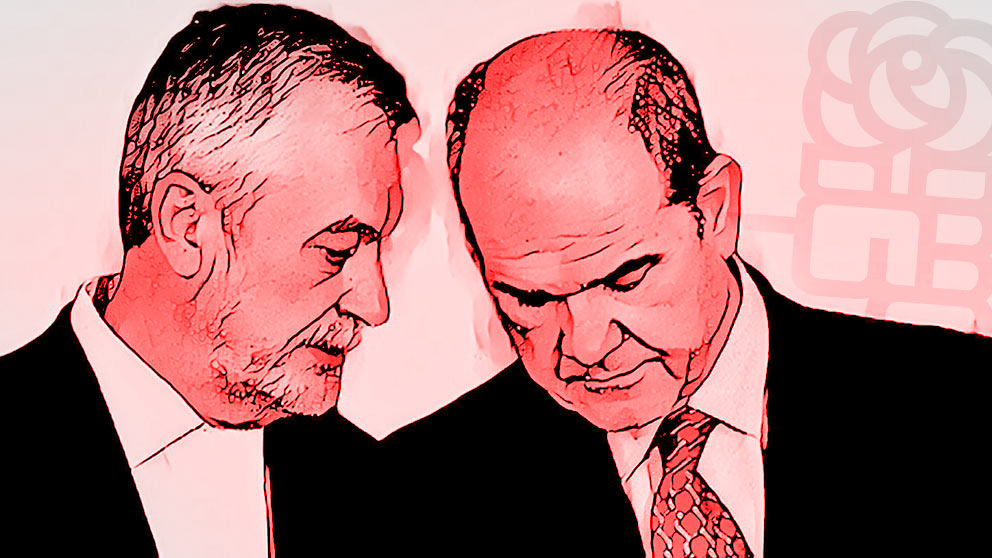 José Antonio Griñán (i) y Manuel Chaves.