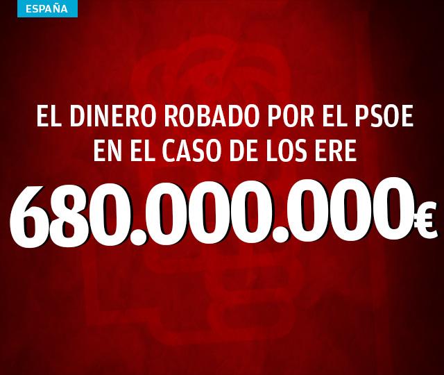 Chaves y Griñán malversaron 680 millones de euros en la fraude de los ERE