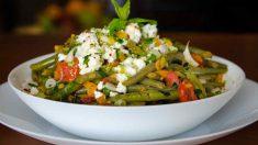 Receta de Ensalada de judías verdes con queso y atún
