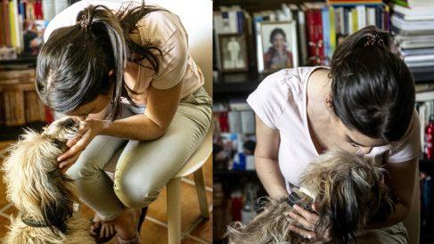 Irene Montero con su perra Rumba