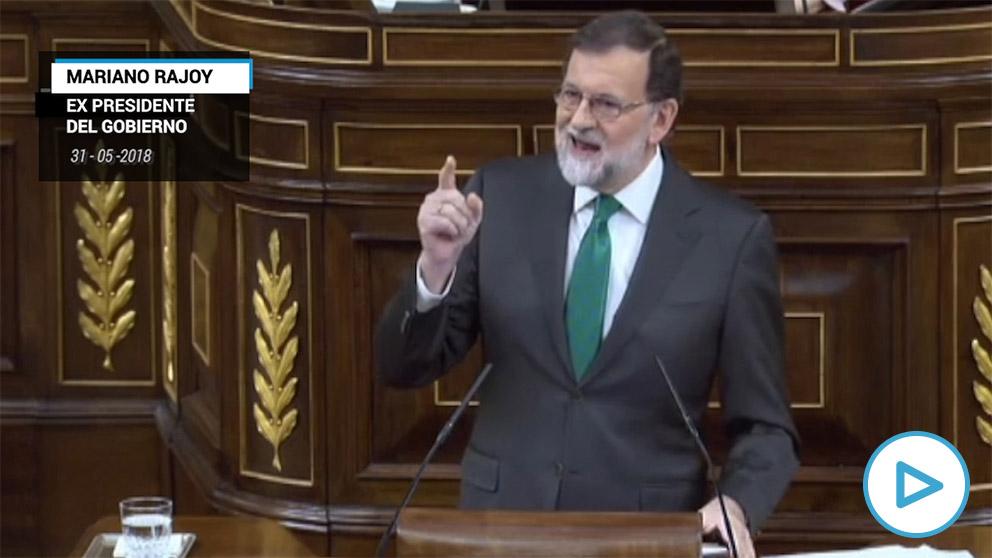 """Rajoy a Sánchez el año pasado: «Cuando haya sentencia de los ERE, ¿presentarán una moción de censura?"""""""