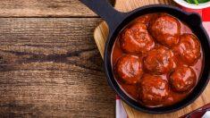 Albóndigas de espinacas con salsa de tomate