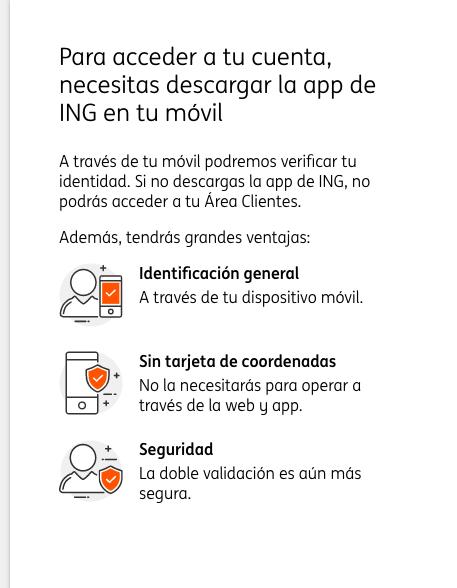 Se disparan las quejas contra ING tras obligar a sus clientes a descargarse su app para seguir operando