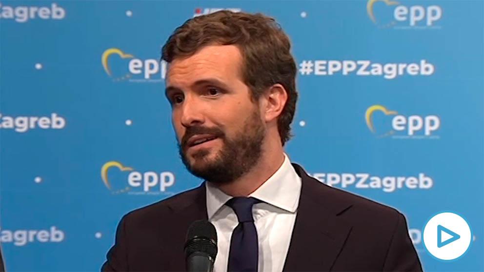 Pablo Casado, presidente del PP en Zagreb (Croacia)