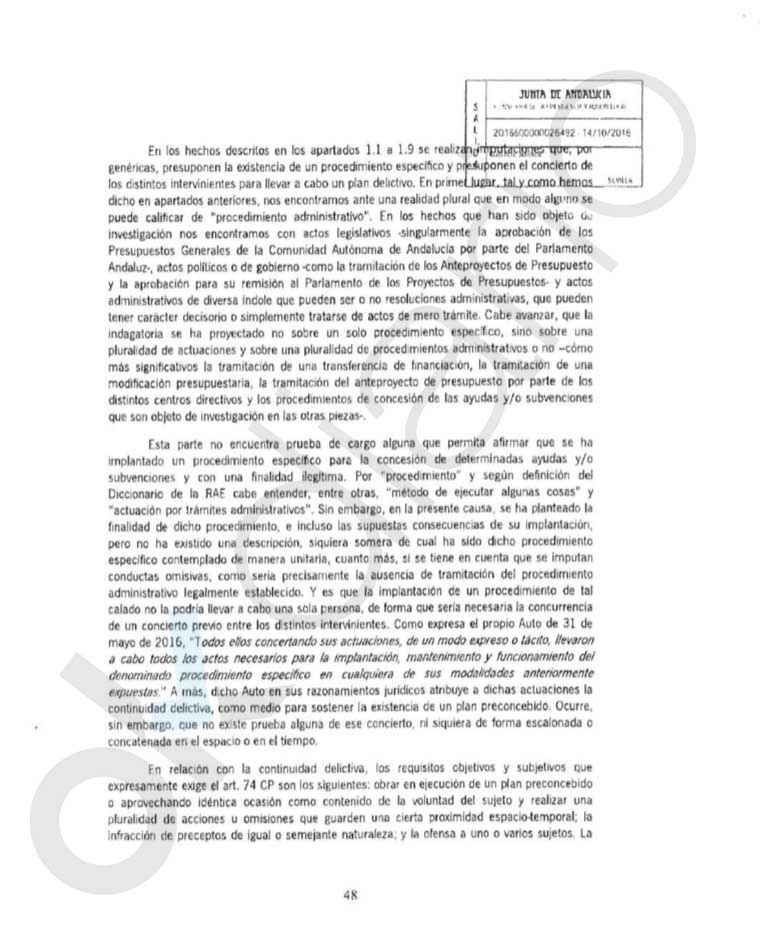 El PSOE blindó en 2016 a los condenados por los ERE para que no devolvieran los 680 millones robados