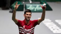 Novak Djokovic celebra su victoria. (Alberto Simón)