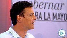Pedro Sánchez durante un mitin del PSOE en 2015: «Los corruptos devolverán todo lo robado respondiendo con su patrimonio».