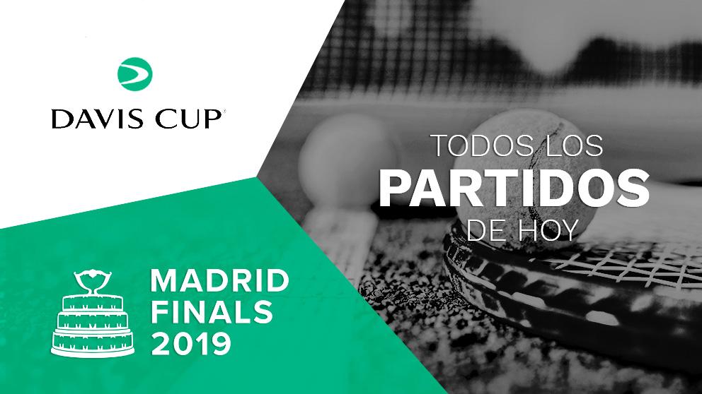 Partidos hoy Copa Davis, sábado 23 de noviembre.