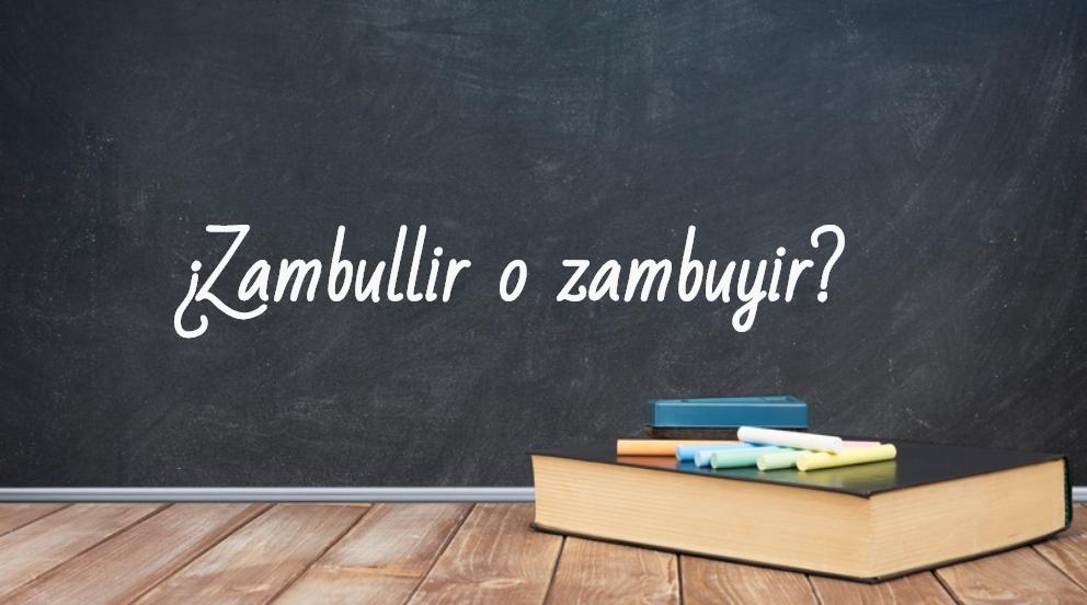 Se escribe zambullir o zambuyir