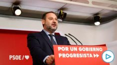 José Luís Ábalos, este jueves, en la rueda de prensa tras la ejecutiva del PSOE.
