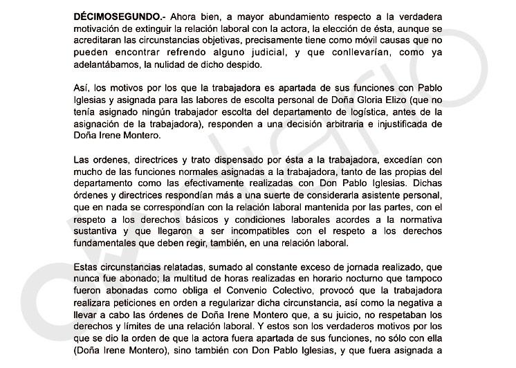 Montero retiró el saludo y despreció a la escolta cuando le pidió regularizar su situación laboral