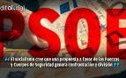 EL PSOE compra el discurso de los golpistas contra Policía y Guardia Civil