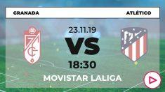 Granada – Atlético de Madrid: jornada 14 de la Liga Santander