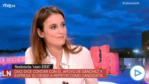 Andrea Levye le recuerda a Podemos el trato que ha dado Irene Montero a su escolta.
