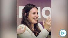 Irene Montero en un acto de Podemos