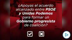 Pedro Sánchez pide el voto a las bases.