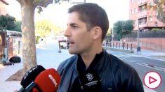 Robert Moreno atiende a los medios de comunicación.
